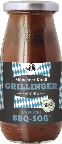 GRILLINGER BBQ-Soß' rauchig BIOLAND, 250ml