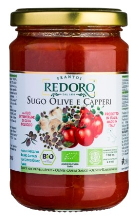 Tomaten Sugo olive e capperi Bio
