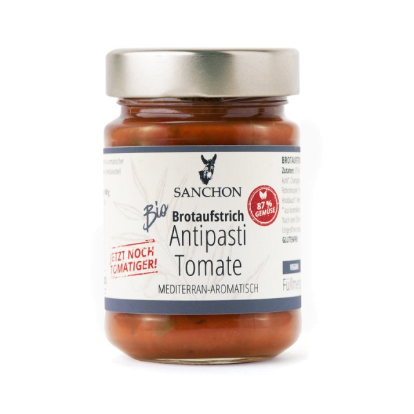 Brotaufstrich Antipasti Tomate, Bio, 190g