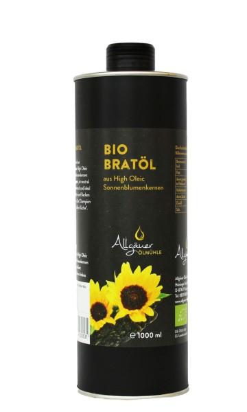 Öl, Sonnenblumen-Bratöl Bio 1000ml Dose