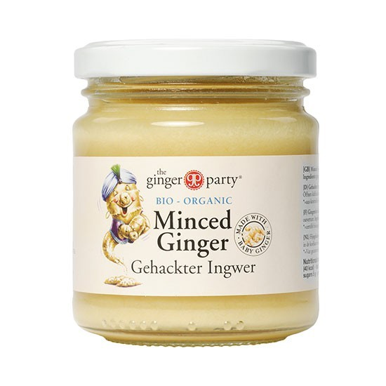 Ingwer frisch geschnitten, Minced Ginger (bio)