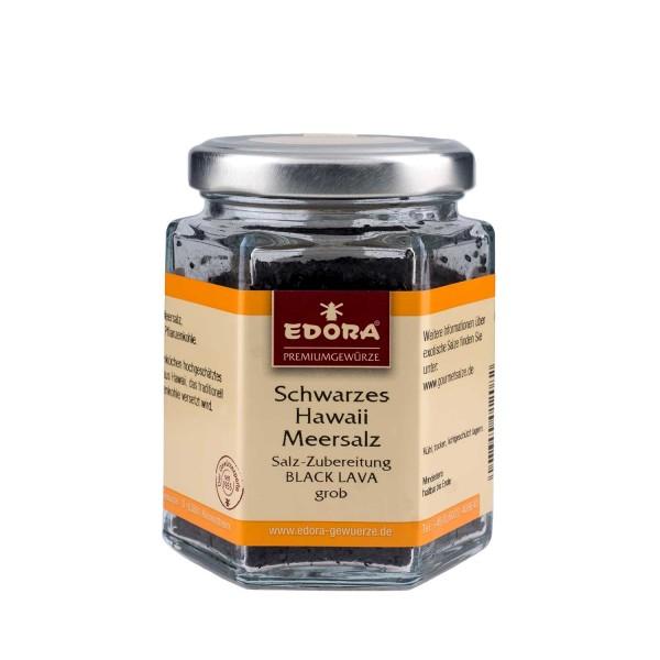 Hawaii Meersalz schwarz - Black Lava grob