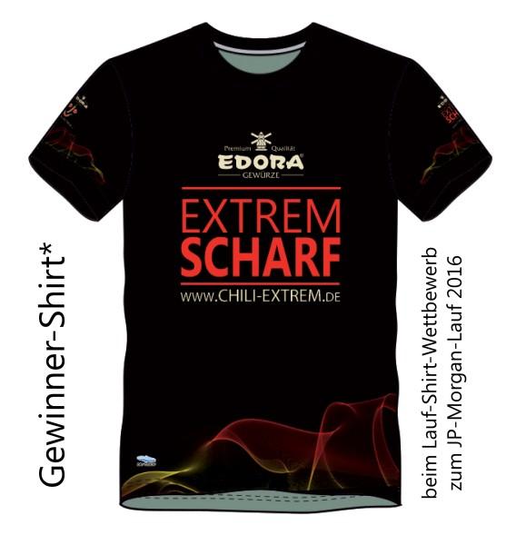 EXTREM SCHARF Laufshirt schwarz (100% Polyester)